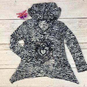 Children's Place 7/8 Sweatshirt Hoodie Gray